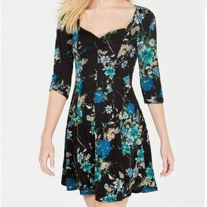 Be Bop 3/4 Sleeve Sweetheart A-Line Dress Juniors